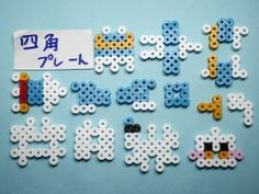 Hama Beads Kawaii, 3d Perler Bead, Hama Beads Design, Diy Perler Beads, Pearler Beads, Fuse Beads, Easy Perler Bead Patterns, Perler Bead Templates, Perler Bead Disney
