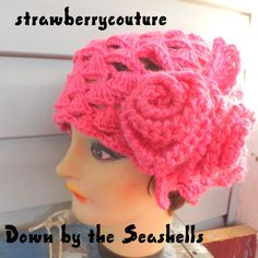 beret hat in pink $45.00 #Etsy