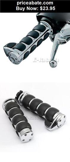 "Motors-Parts-And-Accessories: Motorcycle 1"" Chrome Hand Grips For Honda Yamaha Suzuki Kawasaki Harley Cruiser - BUY IT NOW ONLY $23.95"