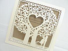 Wedding Invitation Wedding Invite Laser Cut por LavenderPaperie1