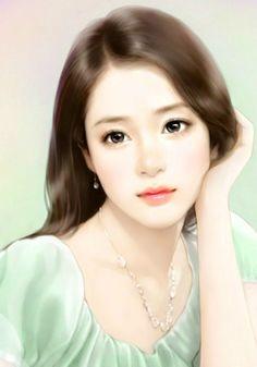 chinese art...Beautiful subject Beautiful Fantasy Art, Beautiful Anime Girl, Beautiful Drawings, Amazing Drawings, Art Manga, Anime Art Girl, Anime Girls, Female Drawing, Female Art
