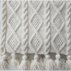 A versatile, original, designer hand knitting pattern for an Aran Cable Scarf in 3 sizes and a stunning Blanket Throw. Four knitting patterns in one.The Braided Cable Beanie Crochet Patter n by Crochet it Creations is a perfect crochet version of a c Cable Knitting Patterns, Arm Knitting, Knitting Designs, Knitting Projects, Knitted Afghans, Knitted Blankets, Knitted Bags, Pull Bebe, Red Heart Yarn