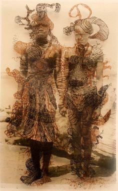 Untitled Artist: Kenyatta A. Contemporary African Art, African Artists, Afro, 2d Art, Black Art, Sculpture, Statue, Inspiring Art, Gallery