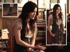From Pretty Little Liars. Love how they used on several outfits the black overalls ;)