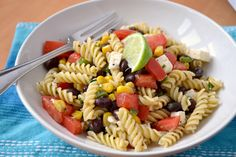 K&K Test Kitchen: Secret Recipe Club: Corn and Black Bean Pasta Salad