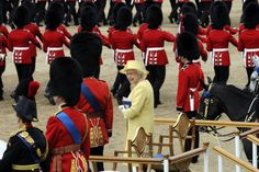 Trooping the Colour    The Queen on Horseguards' Parade during Trooping the Colour, 16 June  2012.Copyright Press Association