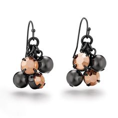 This unexpected metal combo takes your look from simple to stand-out style. Tiered beaded drops in hematite and rose goldtone. Stones in earrings are pink and black. Regularly $14.99, buy Avon Jewelry online at http://eseagren.avonrepresentative.com