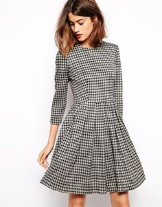 Newest Ganni addition- Skater Houndstooth dress. I really adore it