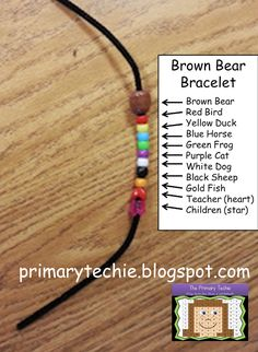 Making a Brown Bear retelling bracelet!