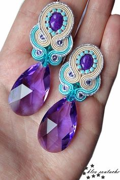 Sutasz Kleo /Soutache jewellery: NAKOR BLUE VIOLET