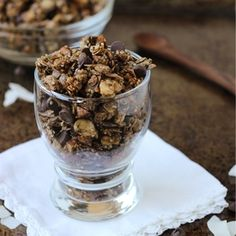 Dark Chocolate, Almond, & Coconut Hemp Seed Granola- trust me, you need this in your life.