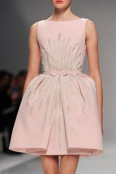 amazing soft pink fashion dress with silver embroidery This is the prettiest thing I have ever seen! Georges Hobeika at Couture Spring 2015.