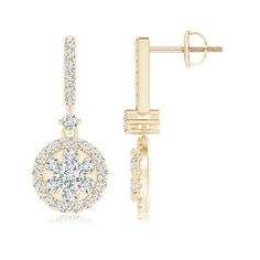 Angara Elongated Kite Shaped Diamond Double Dangle Earrings Stq6WPw8