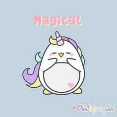 Piki is magical!!  #Piki #pikithepenguin #penguins #penguinslover #cute #kawai #kawaii #unicorn #unicornio #cuddly #pink #loveunicorns #unicornlove #unicornlover #pusheen #gudetama #unicorns
