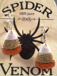 Fun Whimsical Spooky Halloween earrings on leve back wires. by RockinRobinsBling, $5.00