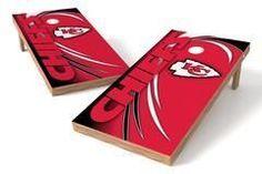 Kansas City Chiefs Single Cornhole Board - Spiral