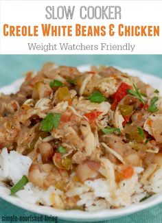 Slow Cooker Creole-Spiced White Beans and Chicken with Points Plus Values