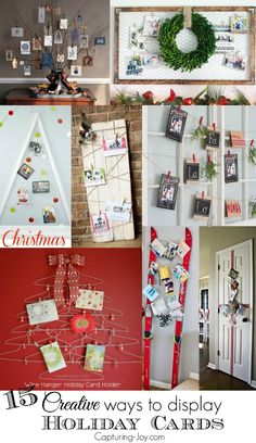 15 Creative Ways to Display Christmas Holiday Cards| Capturing-Joy.com