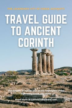 Greece Vacation, Greece Travel, Travel Around The World, Around The Worlds, Corinth Canal, Greek Antiquity, City State, Places Of Interest, Archaeological Site