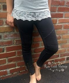 These are MUST HAVES for the Fall!! These Moto Jeggings from Beulah are a lightweight, super soft denim. Elastic waist (so comfy), moto styling on the legs and