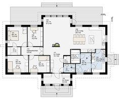 Floor Plans, Case, Bungalow, House Plans, How To Plan, Deco, Building Homes, Blueprints For Homes, Home Plans