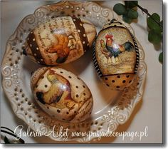 Hand painted eggs..I don't think so. these look like decoupaged eggs to me