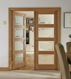 4 Panel Oak Shaker glazed door