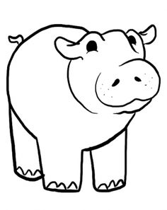 REPIN And LIKE This Hippo Coloring Pages Sheets