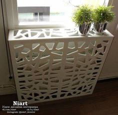 Corian cover for radiator! There are so many amazing things you can create with corian! Hippie Home Decor, Diy Home Decor, Home Radiators, Air Conditioner Cover, Radiator Cover, Corian, Kitchen And Bath, Home And Living, Living Room