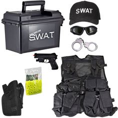 Kids-Army.com - Kids SWAT Airsoft Ammo Can Set, $89.99 (http://www.kids-army.com/products/Spy-Academy-Police-Officer-Metal-Handcuffs.html)