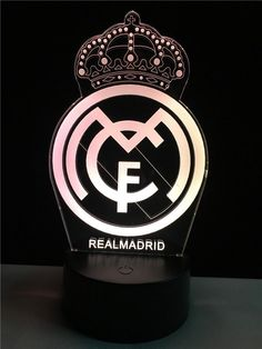 Real Madrid logo LOGO touch 3D  colorful Nightlight  lamp - 3D Optical Lamp Real Madrid Logo Wallpapers, Sports Wallpapers, 3d Light, Lamp Light, Real Madrid Football Club, Soccer Memes, Bernabeu, Hair And Beard Styles, Optical Illusions
