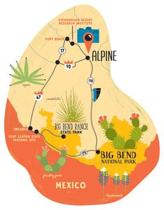 Wildflower Maps for Texas Highways Magazine – Hire an Illustrator