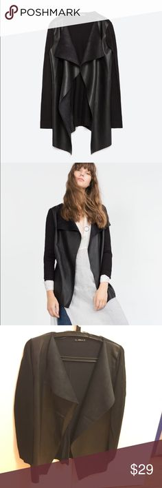 Zara Jacket with Faux Letter pointed front👌🏻 Bought it last winter, quite a piece, it has signs of worn but still looking good🙌🏻 Zara Jackets & Coats