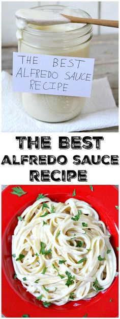 The very best EASY Alfredo Sauce recipe : to use for tossing with pasta, layering lasagna, chicken, casseroles and vegetables.