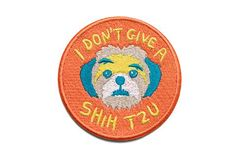 The small ones are always the ones with an attitude. Go figure. Zee.Dog patches look great on backpacks, jackets, dog apparel and your favorite pair of faded jeans.