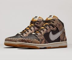 "I Love Sneakers - The Sneaker Blog: Nike Dunk CMFT PRM QS ""Snakeskin""/""Crocodile Dundee"""