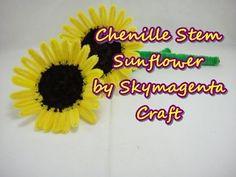 Chenille Stem / Pipe Cleaner Craft - Sunflower - YouTube
