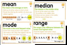 Cute Median, Mean, Mode, and Range   Hey diddle diddle, the median's in the middle,  you add and divide for the mean,  The mode is the one that appears the most,   and the range is the difference between!