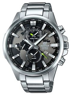 Casio Edifice - Multi-Hand × × mm) Total weight 60 g Casio G-shock, Casio Watch, Relogio Casio Edifice, Cool Watches, Watches For Men, Timer Watch, Casio Vintage, World Timer, Hand Watch