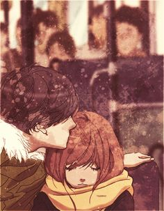 Ao Haru Ride / Blue Spring Ride - Mabuchi/Tanaka Kou and Yoshioka Futaba Manga Anime, Fanarts Anime, Manga Art, Anime Characters, Futaba Y Kou, Futaba Yoshioka, Cute Anime Couples, Manga Love, Anime Couples