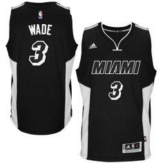 c392855cf Men s adidas Dwyane Wade Black Miami Heat 2014-15 New Swingman Pride Jersey  (Kids