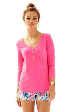 317a795531d350 Palmetto V-Neck T-Shirt. Resort Wear For WomenLilly Pulitzer PrintsLounge  WearWhite DenimPink TopsV ...