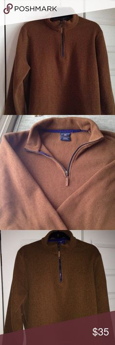 Men's quarter zip fleece Men's fleece quarter zip in a handsome copper brown color. Proudly cut and sewn in the USA. 5-oz. 100% Polartec poly. Machine wash. Beautifully made and extremely soft and comfortable. Like new!! Bills khakis Shirts Sweatshirts & Hoodies