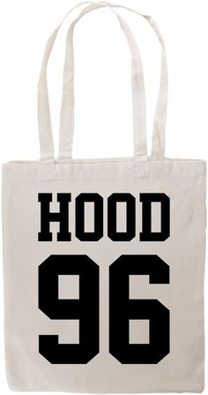 Hood 96 Canvas Tote Shopper Bag by CrazyPrintsL on Etsy, £7.99