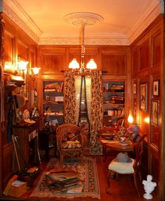 https://flic.kr/p/gRJshq   Sherlock's Finished Room Box   ...voila...with all it artifacts and the lights on! There are over 30 specific items related to the original stories and the imagery from the Jeremy Brett series...