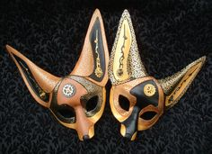Clockwork Fennec Fox Masks 1 and 2 by merimask on deviantART