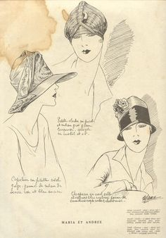 Vintage Hats, How to draw Hat, Drawing Hats, Hat Illustration with thanks to deschapeaux  Resources for Art Students, CAPI ::: Create Art Portfolio Ideas at milliande.com, Art School Portfolio Work