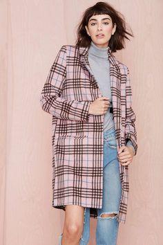 Plaid Attitude Coat | Shop Clothes at Nasty Gal