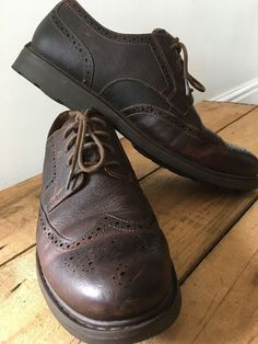 b8cf8daba92 UK SIZE 9 5 H MENS CLARKS ACTIVE AIR VENT BROWN TEXTURED LEATHER BROGUE  SHOES