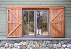 sliding barn exterior window shutters - Google Search